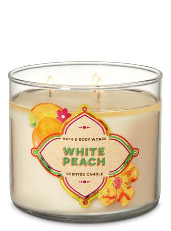 Bath & Body Works - White Peach 3-Wick Candle