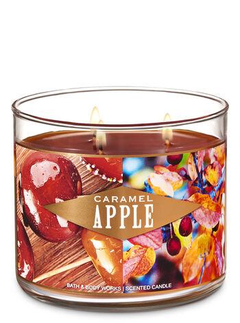 Bath & Body Works - 3-Wick Candle, Caramel Apple