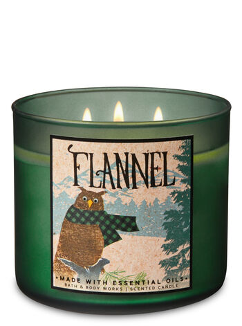 Bath & Body Works - Flannel 3-Wick Candle