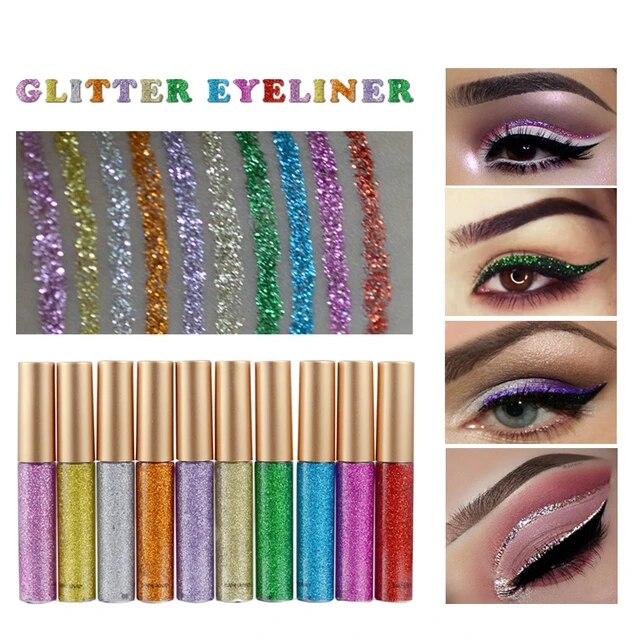 aliexpress.com - HANDAIYAN 10 Color Colorful Liquid Eyeliner Pencil Shining Glitter Eyeliner Makeup Tools Long Lasting Eyes Makeup Tools TSLM1