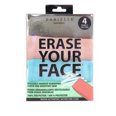bedbathandbeyond.com - Erase Your Face 4-Pack Reusable Makeup Removing Cloth for Sensitive Skin