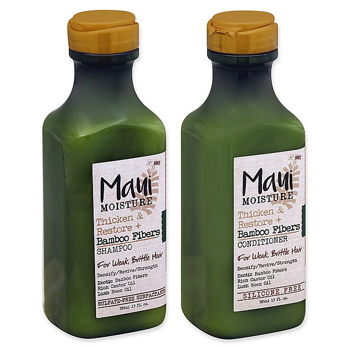 Maui Moisture - Maui Moisture Thicken & Restore + Bamboo Fibers Collection for Weak, Brittle Hair