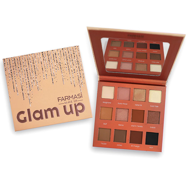 farmasius - FARMASI MAKE UP GLAM UP EYESHADOW PALETTE 12 SHADES