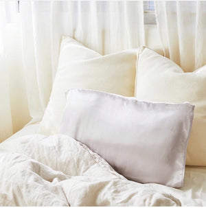 silked.co - Grey Satin Pillow Sleeve