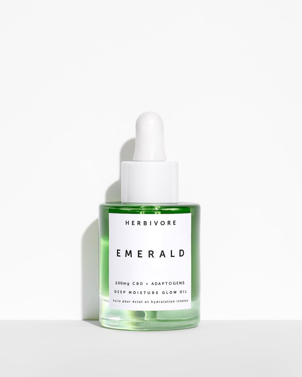 herbivorebotanicals - EMERALD CBD + Adaptogens Deep Moisture Glow Oil
