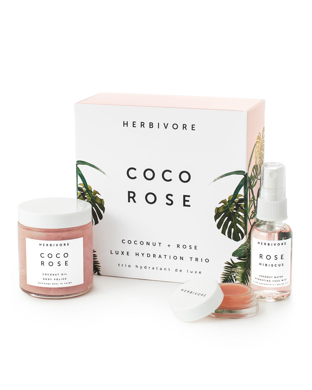 herbivorebotanicals - Coco Rose Luxe Hydration Trio