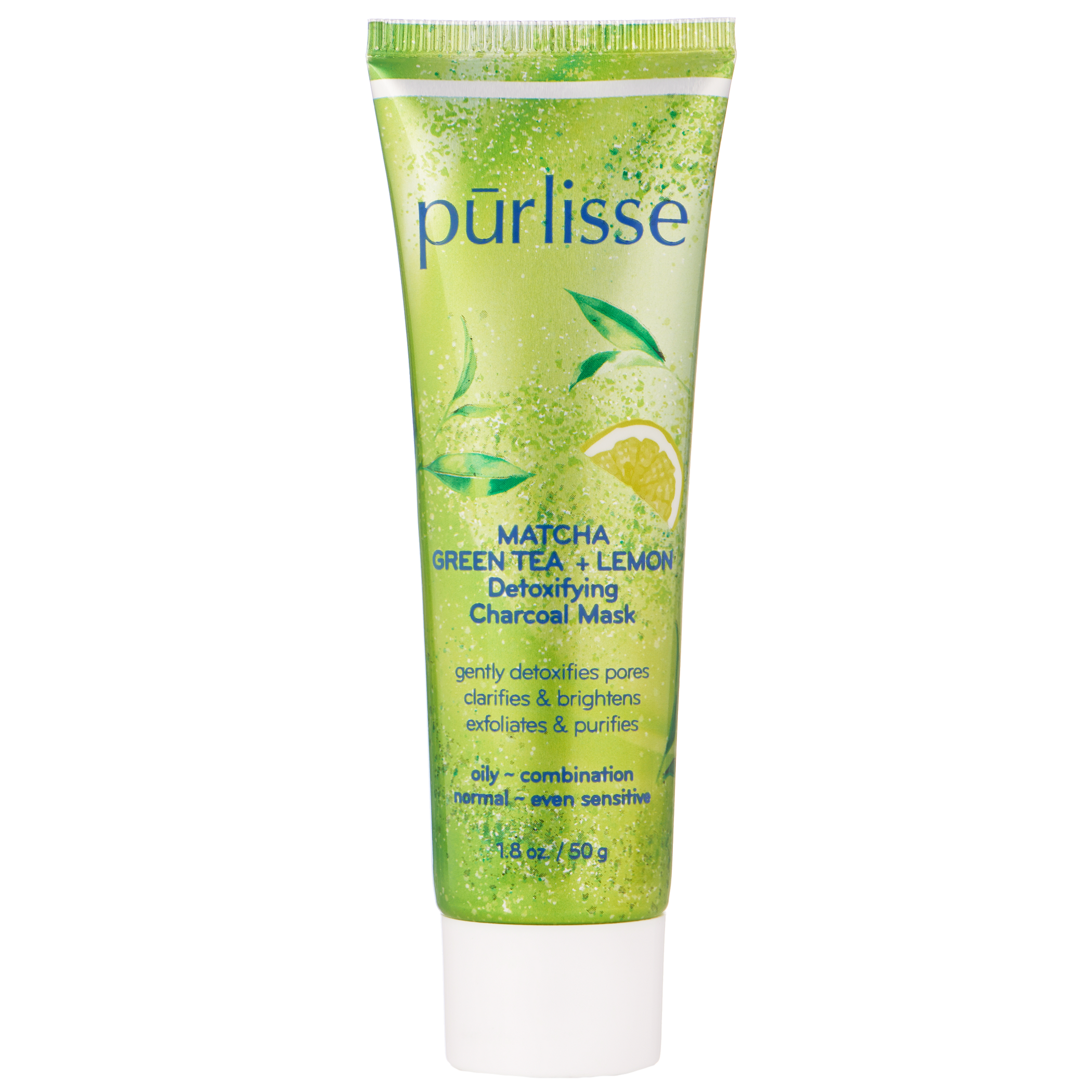 Purlisse - Matcha Green Tea + Lemon Detoxifying Charcoal Mask