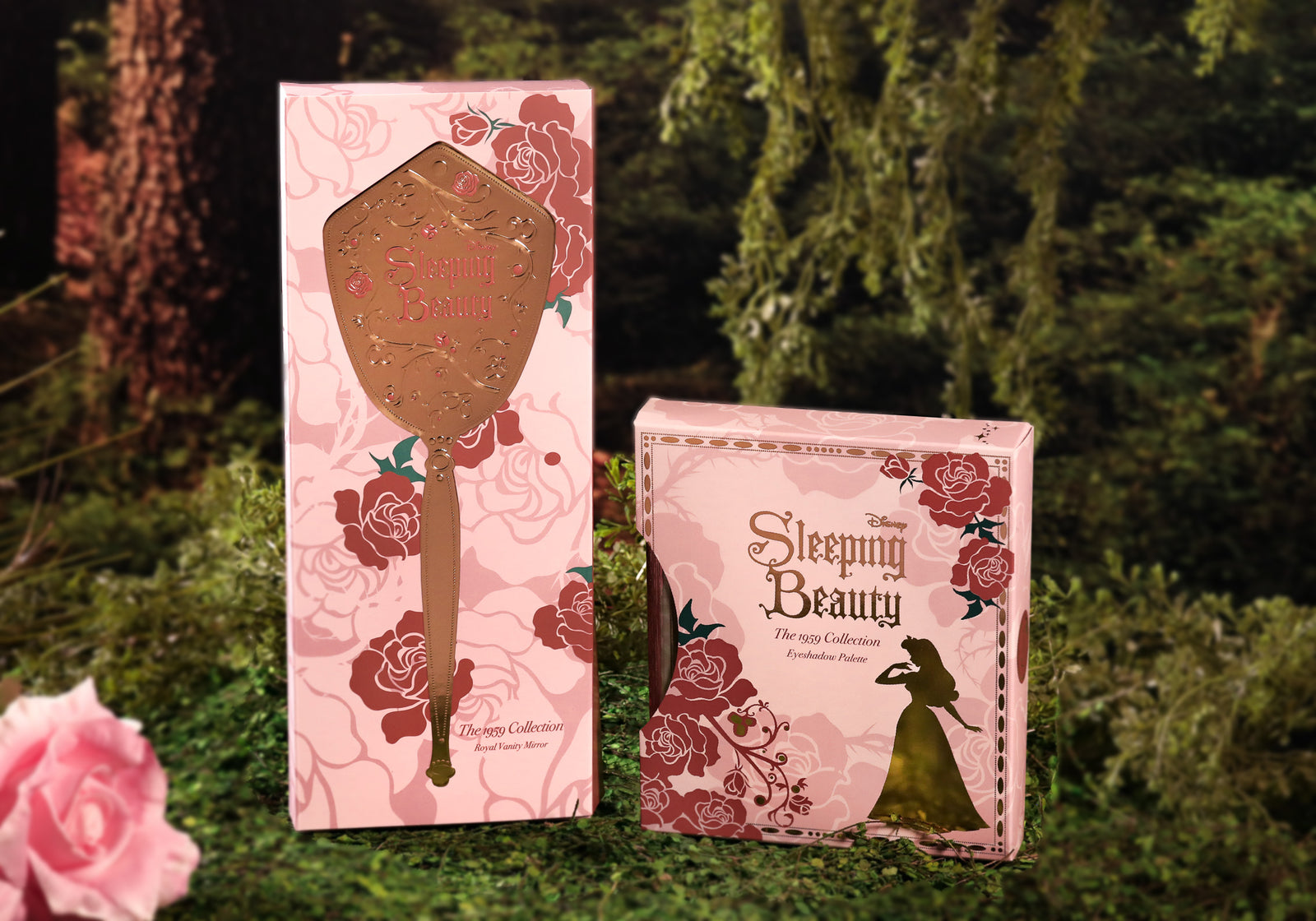 Besame Cosmetics - Royal Vanity Mirror & 1959 Eyeshadow Palette Bundle