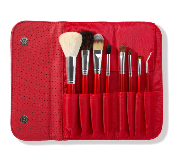 Morphe - SET 700 - 8 PIECE CANDY APPLE RED SET