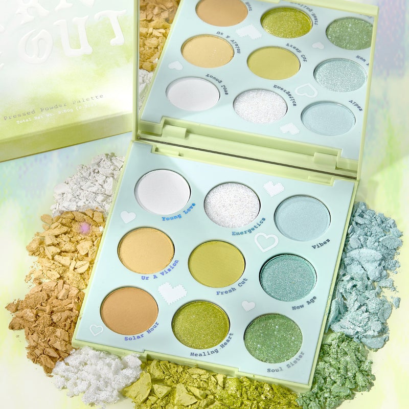 Select Brand - Aura & Out Yellow Green Makeup Shadow Palette | ColourPop