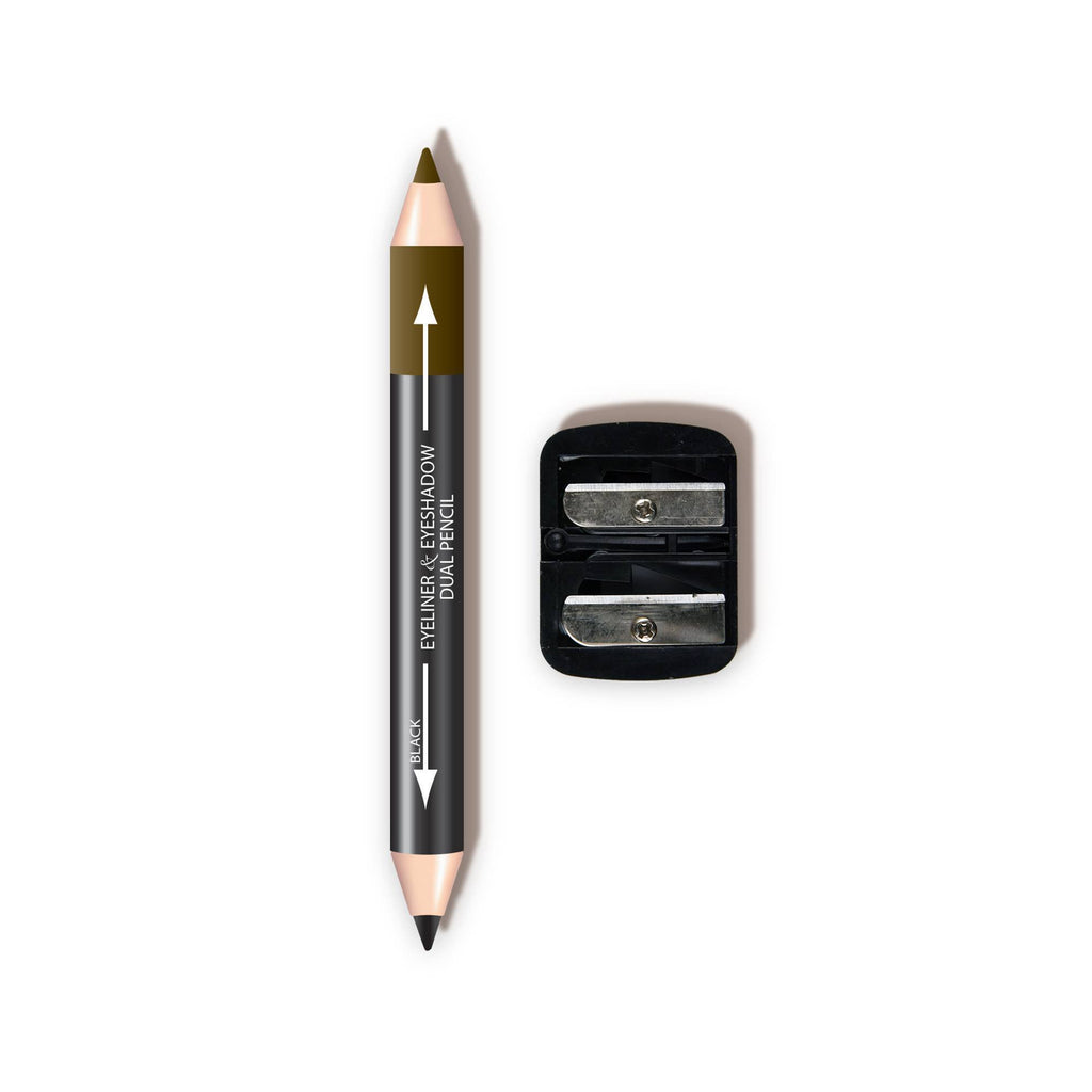 L. A. Colors - Dual Liner & Shadow Pencil w/ Sharpener (carded)