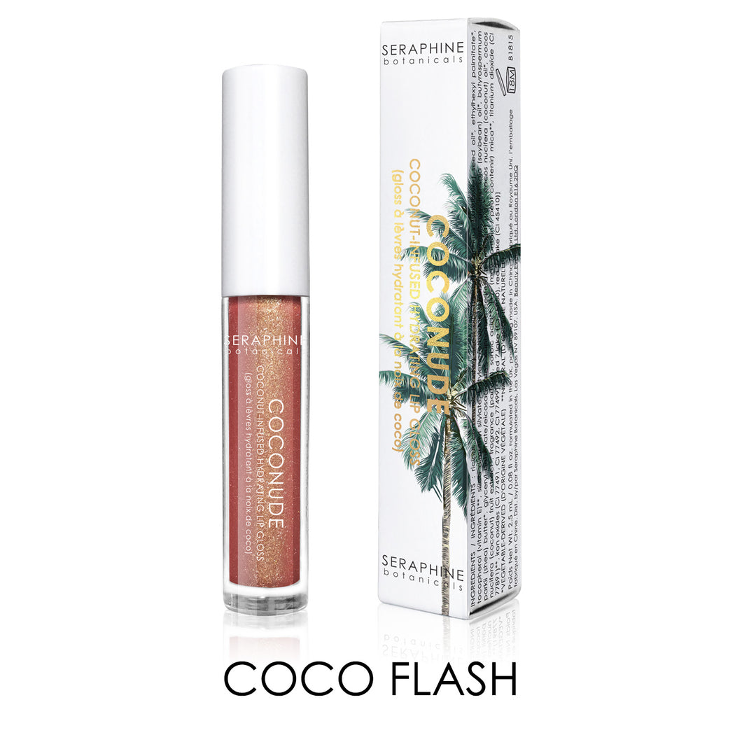 seraphinebotanicals.com - Coconude - Coconut-Infused Hydrating Lip Gloss