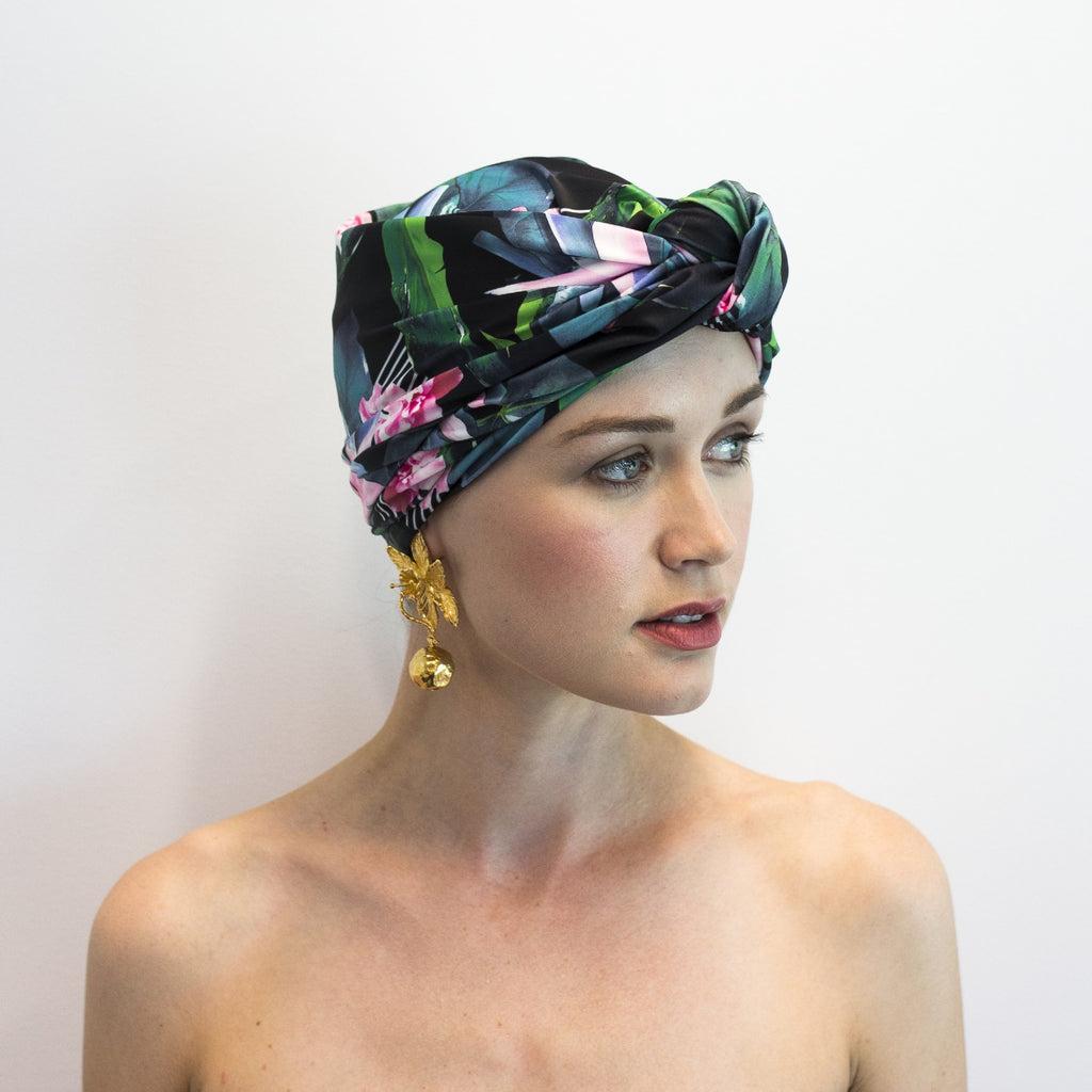 louvellewear.com - DAHLIA shower cap in Hyper Paradise