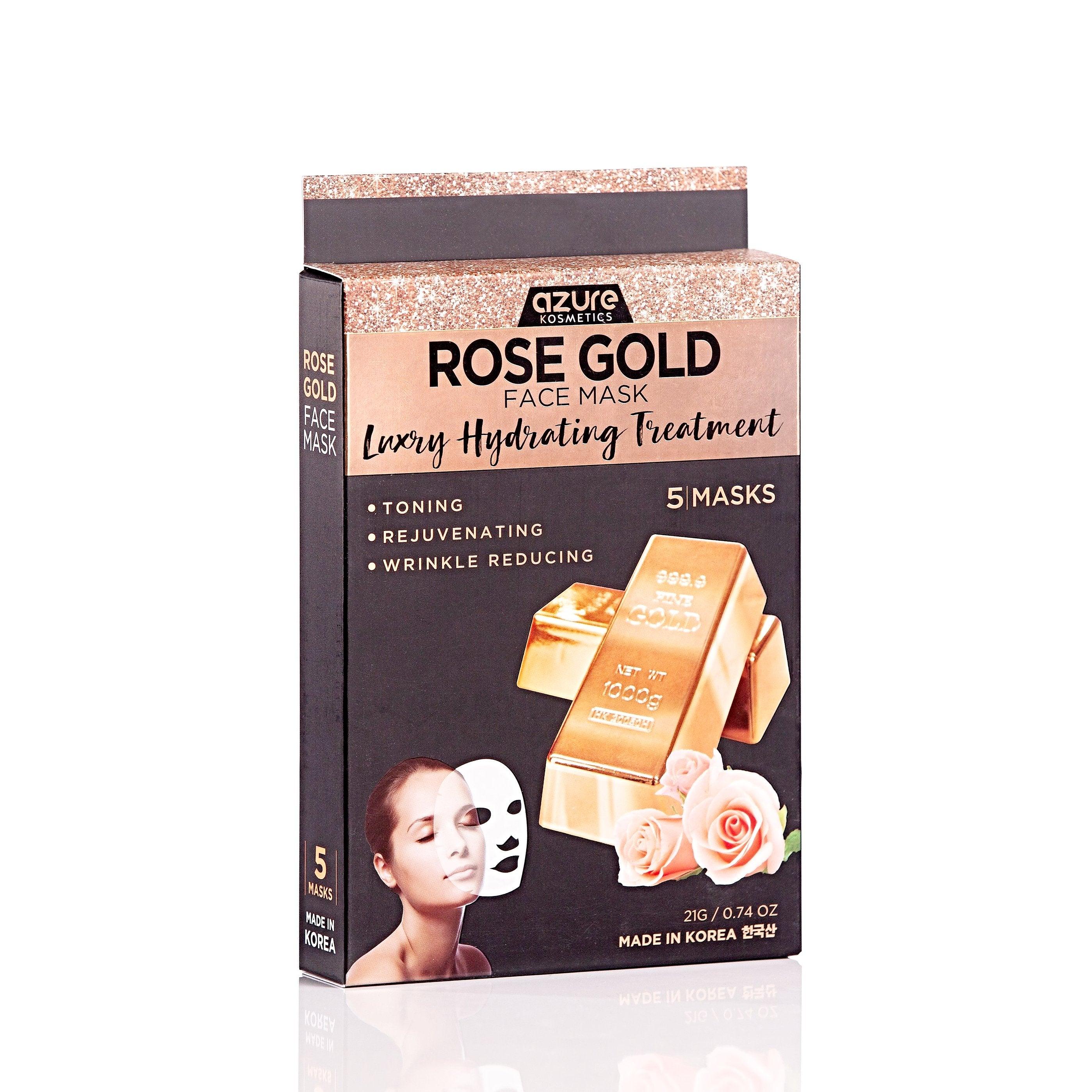 azurekosmetics.com - Rose Gold Luxury Firming Sheet Face Mask: 5 Pack