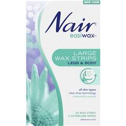 woolworths - Nair Hair Removal Wax Easiwax Large Strips 20 pack