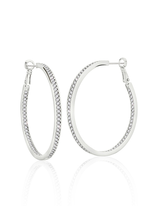 zaxie - Sheen Girls CZ Hoop Earrings