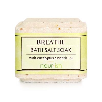 nourishsavannah Breathe Lemon Eucalyptus Bath Salt Soak