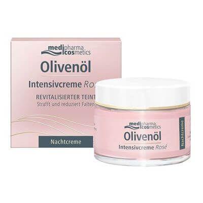 Medipharma Cosmetics - medipharma cosmetics OLIVENÖL Intensivcreme Rose Nachtcreme 50 ml