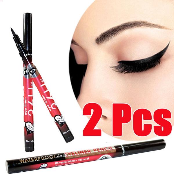 cute.wish.com - 2Pcs/1Pcs YANQINA Make Up Eyeliner Pen Cosmetics Waterproof Beauty Pencil Liquid Eyeliner Black
