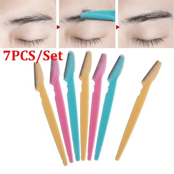 cute.wish.com - 7Pcs/Set Facial Eyebrow Razor Trimmer Shaping Professional Safety Eyebrows Hair Remover Shaper Shaver Beauty Tools