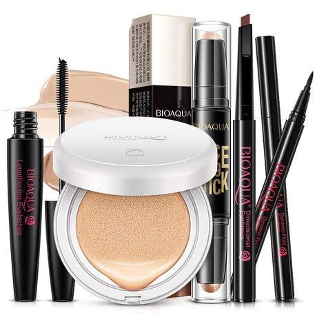 AO.YIOD - Eyeliner, Air Cushion Bb Cream, Double Head Highlighter Stick, Curling Mascara, And Rotating Eyebrow Pencil