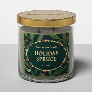Opalhouse - OpalHouse Holiday Spruce Soy Jar Lidded Candle NEW