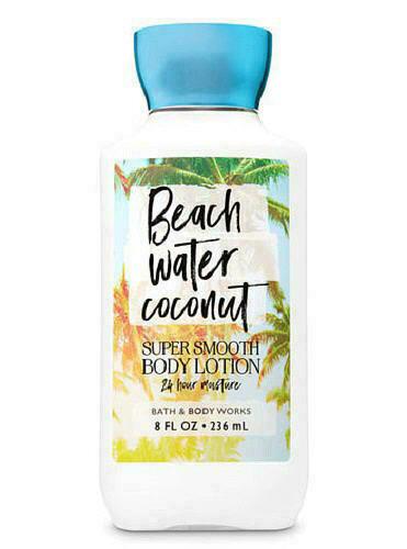 Bath & Body Works - 1 Bath & Body Works Beach Water Coconut Super Smooth Lotion Cream Hand 8oz