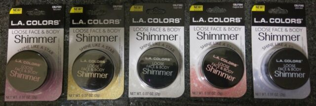 eBay - NEW L.A. COLORS LOOSE FACE & BODY SHIMMER - 5 COLORS - YOU CHOOSE - FREE SHIP
