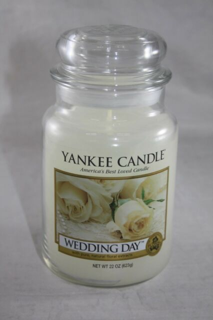 www.ebay.com - YANKEE CANDLE WEDDING DAY SCENTED WITH PURE,NATURAL EXTRACTS LARGE JAR 22 OZ