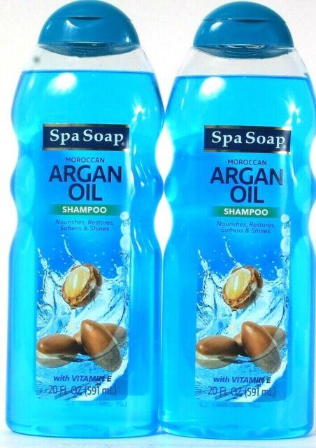 eBay - 2 Spa Soap 20 Oz Moroccan Argan Oil With Vitamin E Nourishing & Shine Shampoo