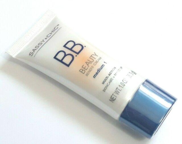 Sassy + Chic - 3pk Sassy Chic Beauty Benefit Cream BB Multi-action Skincare Makeup Light 1
