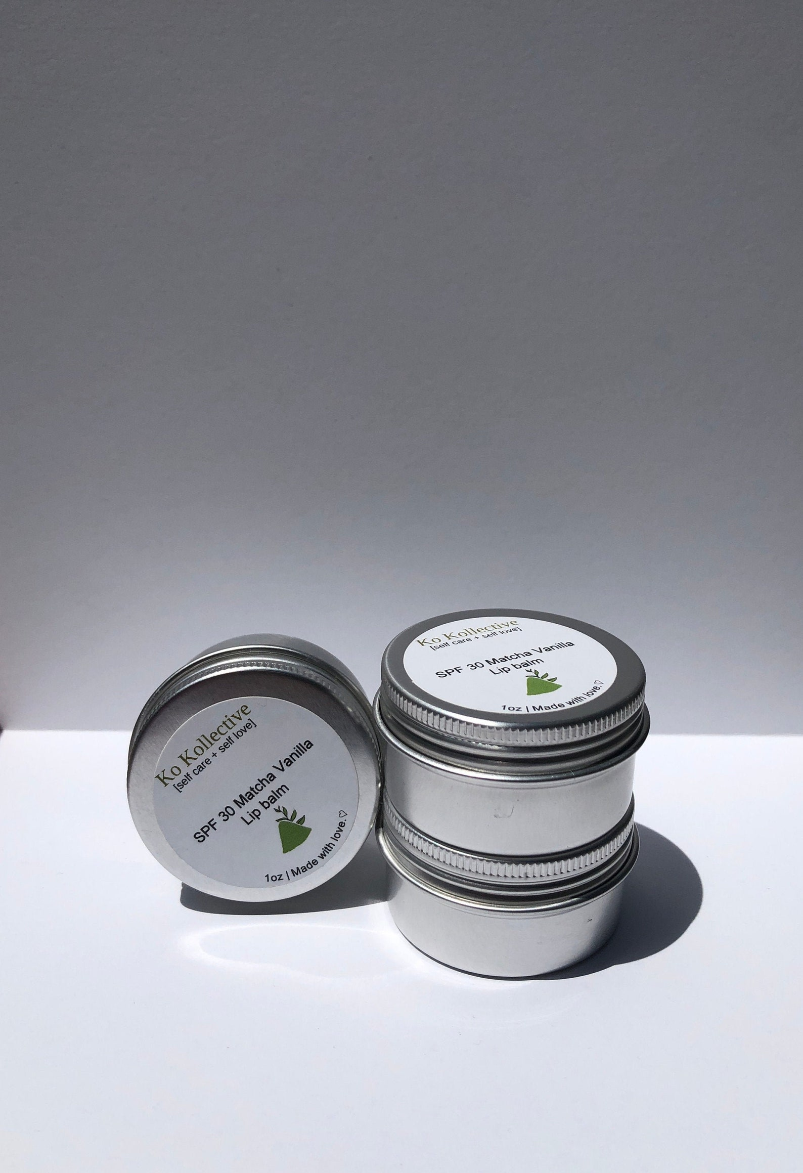 etsy.com - SPF 30 Matcha Vanilla Lip Balm