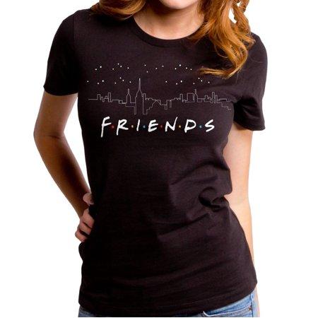 Walmart.com - Friends cityscape black tee