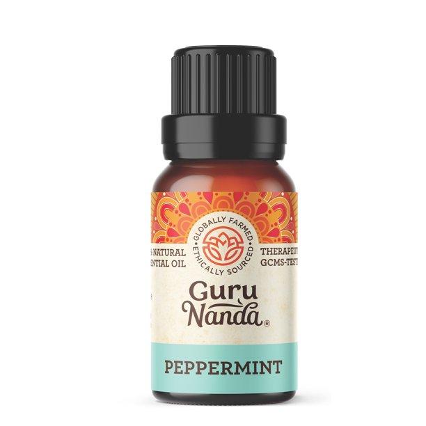 GuruNanda - GuruNanda 100% Pure Peppermint Essential Oil for Aromatherapy - .5 fl oz