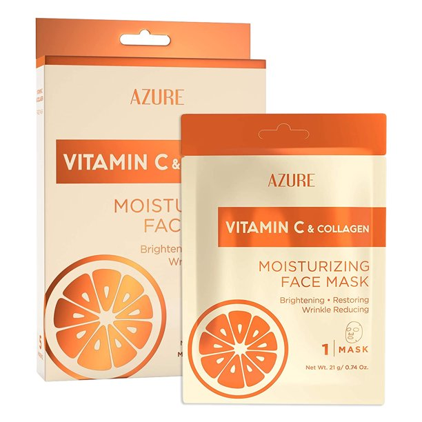 Azure Skincare - Vitamin C & Collagen Moisturizing Sheet Face Mask