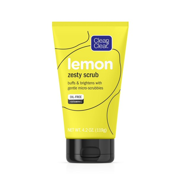Clean & Clear - Clean & Clear Lemon Zesty Oil-Free Face Scrub with Vitamin C, 4.2 oz