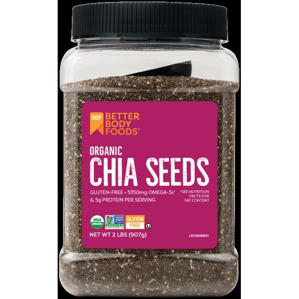 Betterbody Foods BetterBody Foods Organic Chia Seeds, 2.0 lb, 30 Servings