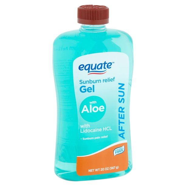 Equate - Equate After Sun Sunburn Relief Gel with Aloe, 20 oz