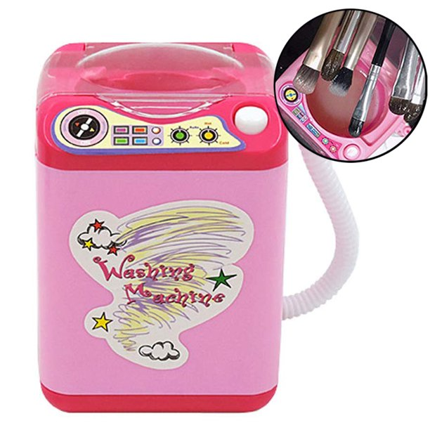 Bluelans Miodk Mini Makeup Brush Cleaner Automatic Cleaning Washing Machine Pretend Play Toy