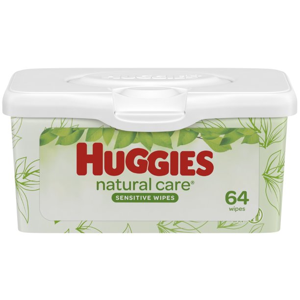 Huggies - Huggies Natural Care Sensitive Baby Wipes, Unscented, 1 Nursery Tub (64 Wipes Total)