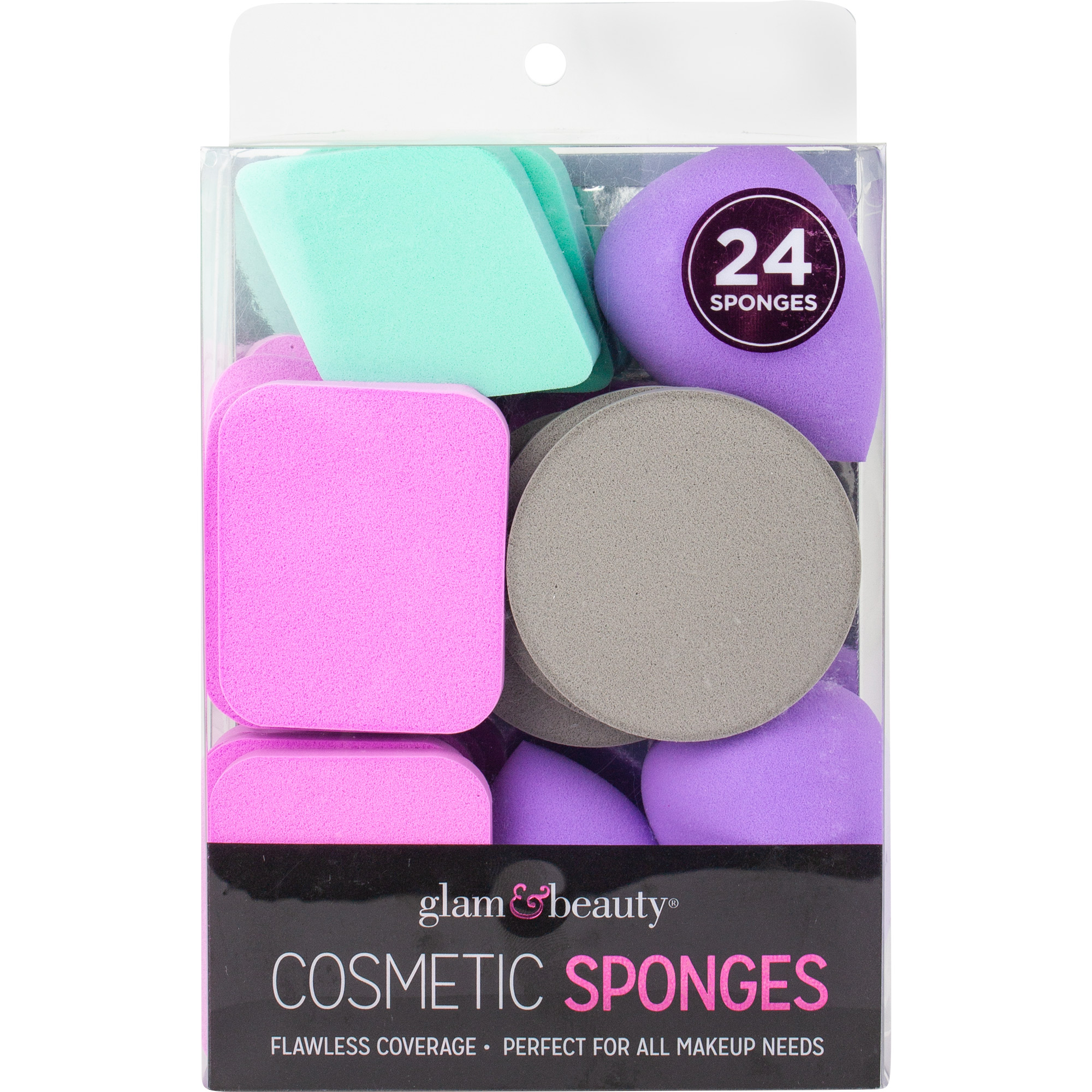 BrickSeek - Glam and Beauty 24Count Cosmetic Sponges, Best Brands, Makeup Sponges - BrickSeek
