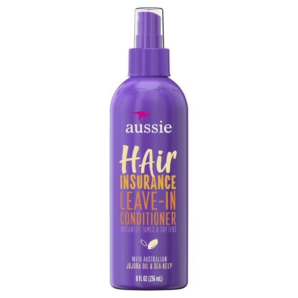 Aussie Aussie Hair Insurance Leave-In Conditioner with Jojoba Oil, 8 fl oz