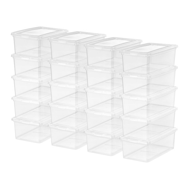 Mainstays - Mainstays 5Qt Clear Women's Shoe Storage Latch Box, 20 Pack