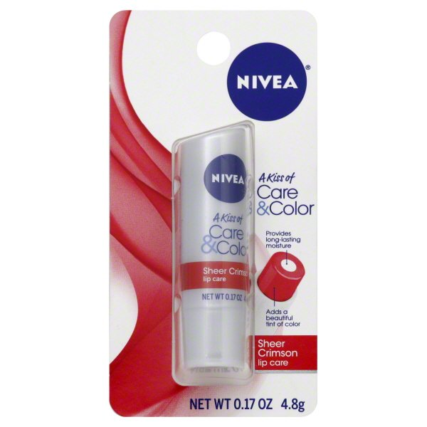Nivea - Care & Color Sheer Crimson Lip Care