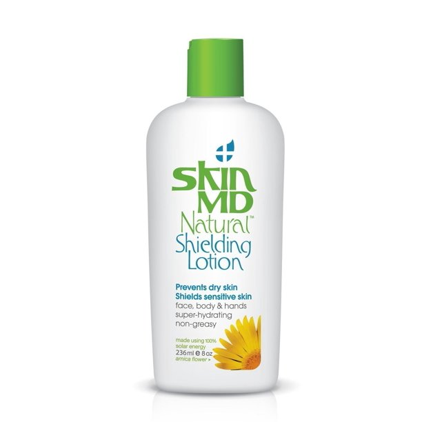 Gloves In A Bottle Shielding Lotion - Skin MD Natural Shielding Lotion Absolutely Non-Greasy, Fragrance Free Gel Like for Face & Body, Hydrates 6 Times More than Regular Moisturizers, No More Irritation, Redness & Itching - 8oz-236 ml