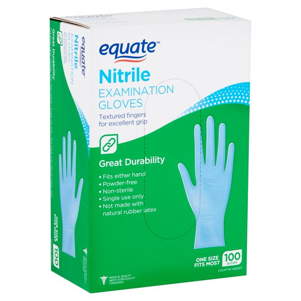 Equate - Equate Nitrile Examination Gloves, 100 count