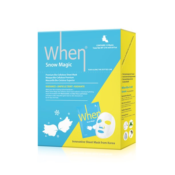 When Snow Magic Radiance Premium Bio-Cellulose Sheet Mask