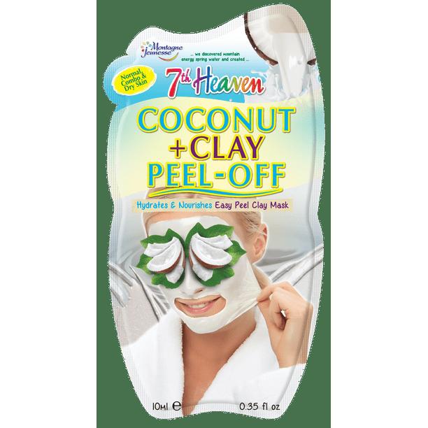 7Th Heaven - 7th Heaven Coconut Clay Peel Off Face Mask Moisturize & Refresh 0.7 Oz