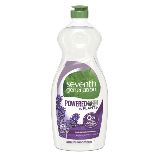 Walmart.com - Seventh Generation Dish Liquid Soap Lavender Floral & Mint 25 oz - Walmart.com