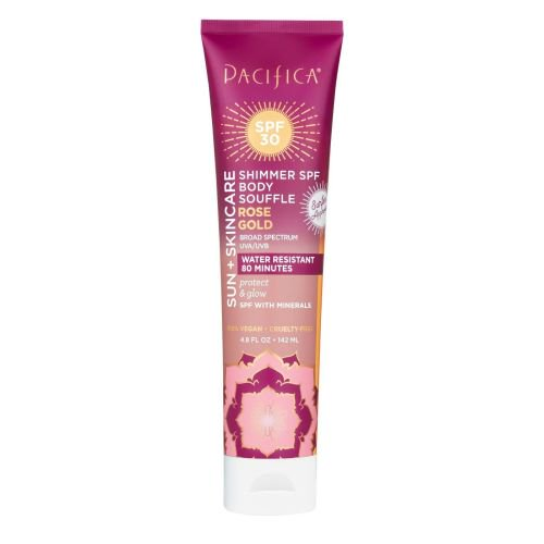 Pacifica Rose Gold Shimmer Body Souffle, SPF 30